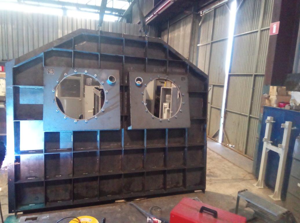 Κατασκευή και εγκατάσταση πλάτης φούρνου τήξεως αλουμινίου